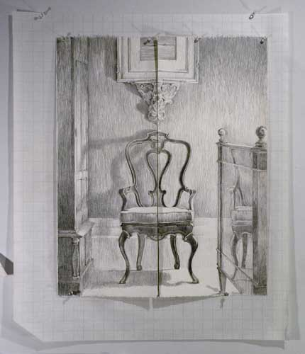 split chair drawing
